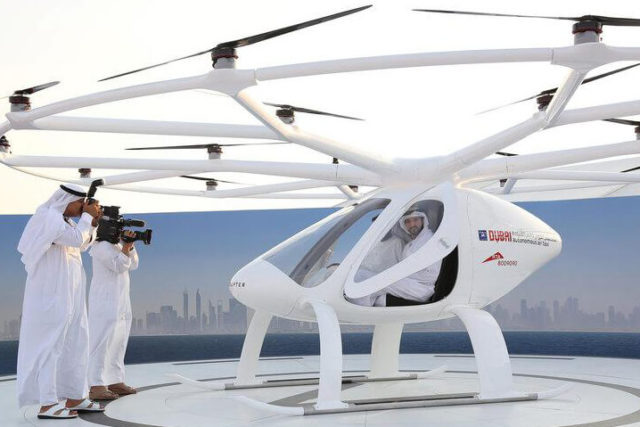 Flying taxi takes off in Dubai in world's 1st concept flight